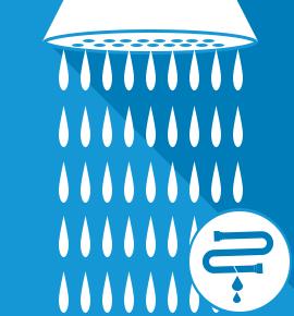 Réparation fuite d'eau sur douche