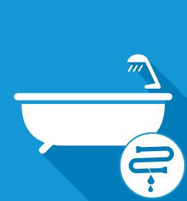 Réparation fuite d'eau sur baignoire