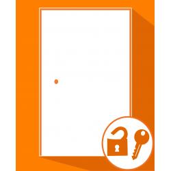Ouverture de porte d'entrée simple fermée à clé