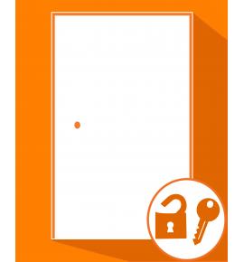Ouverture de portes d'entrée fermée à clés