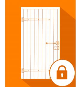 Fermeture serrure + porte provisoire pour porte de cave