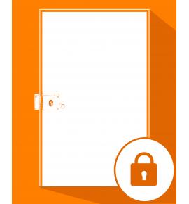 Fermeture serrure + porte provisoire de porte d'entrée
