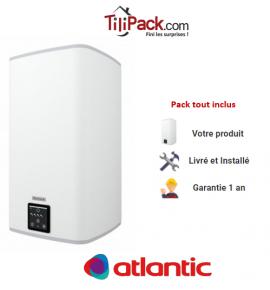 Chauffe-eau électrique Atlantic LINEO 120l, vertical stéatite, blanc