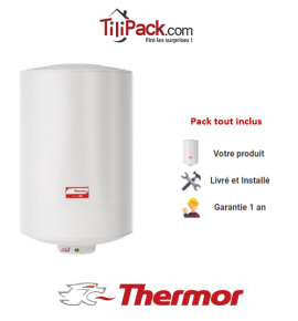 Chauffe-eau électrique Thermor DURALIS D57 100L vertical stéatite - diamètre 57 cm
