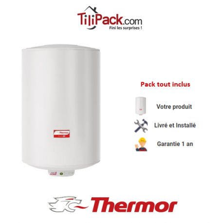 Chauffe-eau électrique Thermor DURALIS D57 50L vertical stéatite - diamètre 57 cm