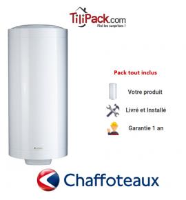 Chauffe-eau électrique Chaffoteaux 150L vertical stéatite