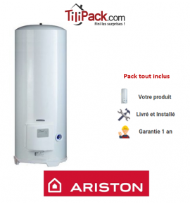 Chauffe-eau électrique Ariston 250L stable blindé - diamètre 56 cm