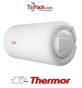 Chauffe-eau électrique Thermor 100L horizontal blindé raccordement latéral