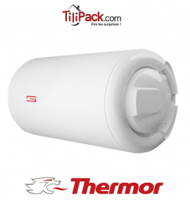Chauffe-eau électrique Thermor 200L horizontal blindé raccordement latérale