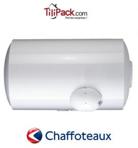 Chauffe-eau électrique Chaffoteaux 100L horizontal blindé raccordement bas