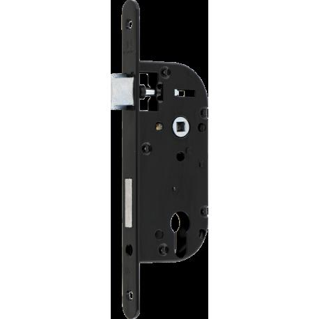 Serrure à mortaiser Héraclès monopoint têtière noir - Entraxe 50 mm - Profil européen