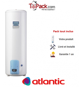 Chauffe-eau électrique Atlantic VIZENGO 250L, stable stéatite