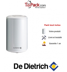Chauffe-eau électrique De Dietrich Corémail sur évier 30L, résistance blindée