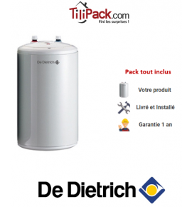 Chauffe-eau électrique De Dietrich Corémail sous évier 15L, résistance blindée