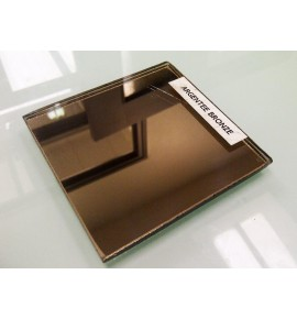 Glace de miroir argentée Bronze - 6 mm