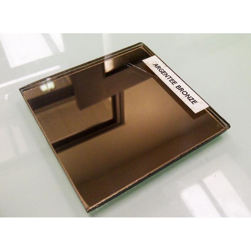 Glace de miroir argent e bronze 6 mm livr e pos e en 48h for Glace miroir