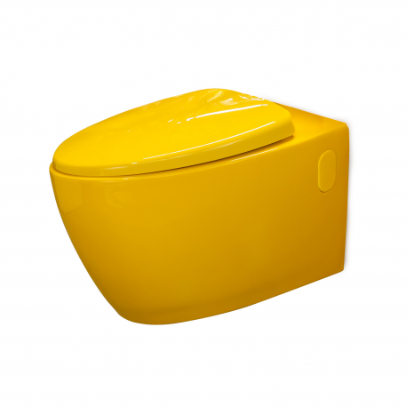Cuvette WC suspendue Loobow Jaune Piou