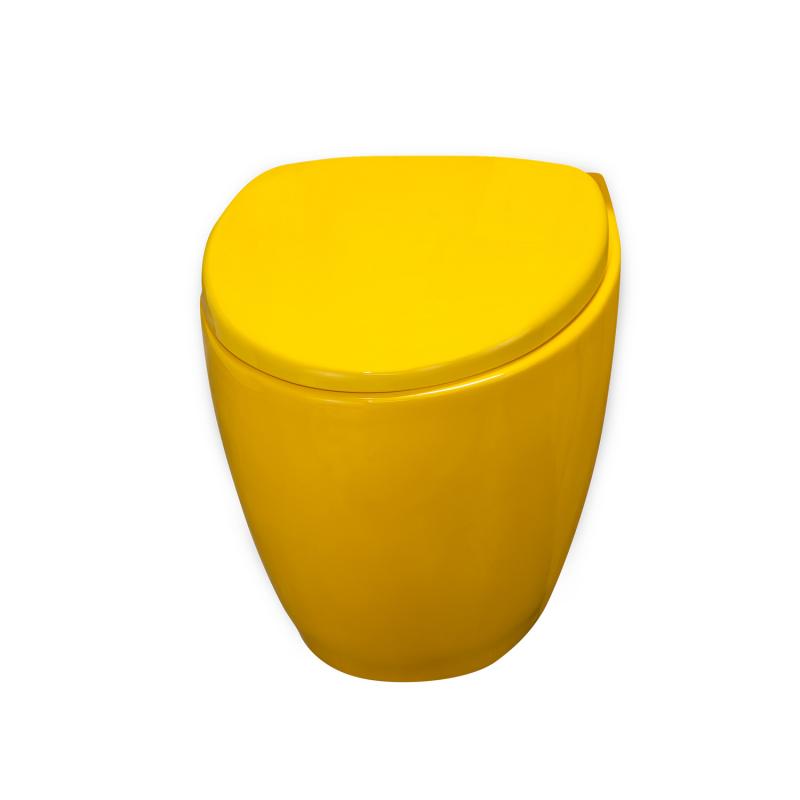 cuvette suspendue loobow jaune piou livr et install 48h. Black Bedroom Furniture Sets. Home Design Ideas