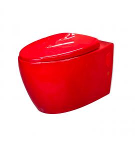 W.C. suspendu rouge Loobow Cherry