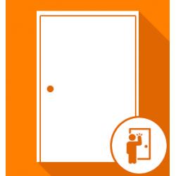 Ouverture de porte d'entrée blindée claquée