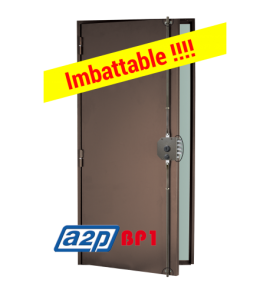 Porte blindée A2P BP1, Securystar Privilège - Serrure applique 3 points