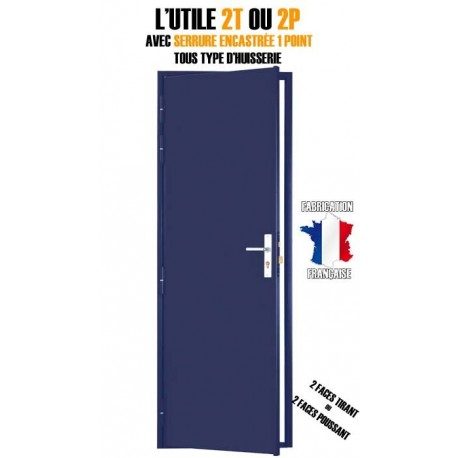 Bloc porte Technique, Securystar Utile 2 faces, Serrure encastrée 1 point