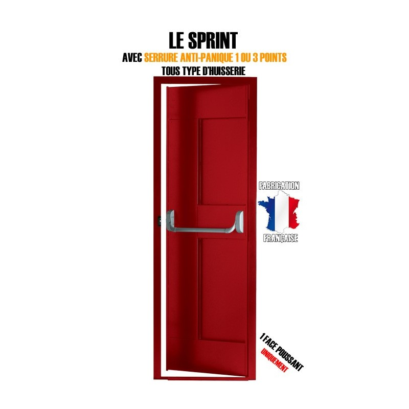 Bloc Porte Issue De Secours Securystar Sprint 1 Face Livr E Pos E