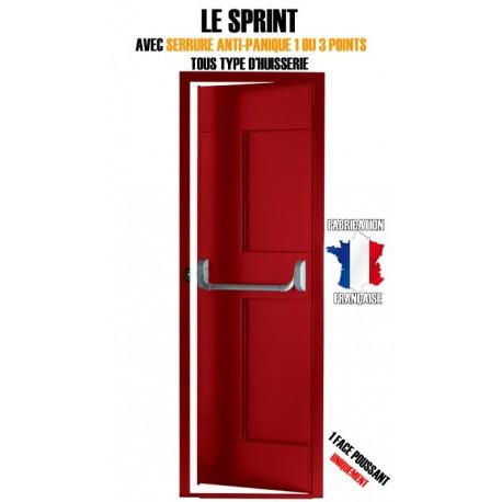 Porte issue de secours, Securystar Sprint, Serrure anti-panique 3 points