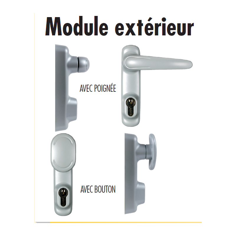 Bloc porte issue de secours securystar sprint 3 points - Porte issue de secours avec barre anti panique ...