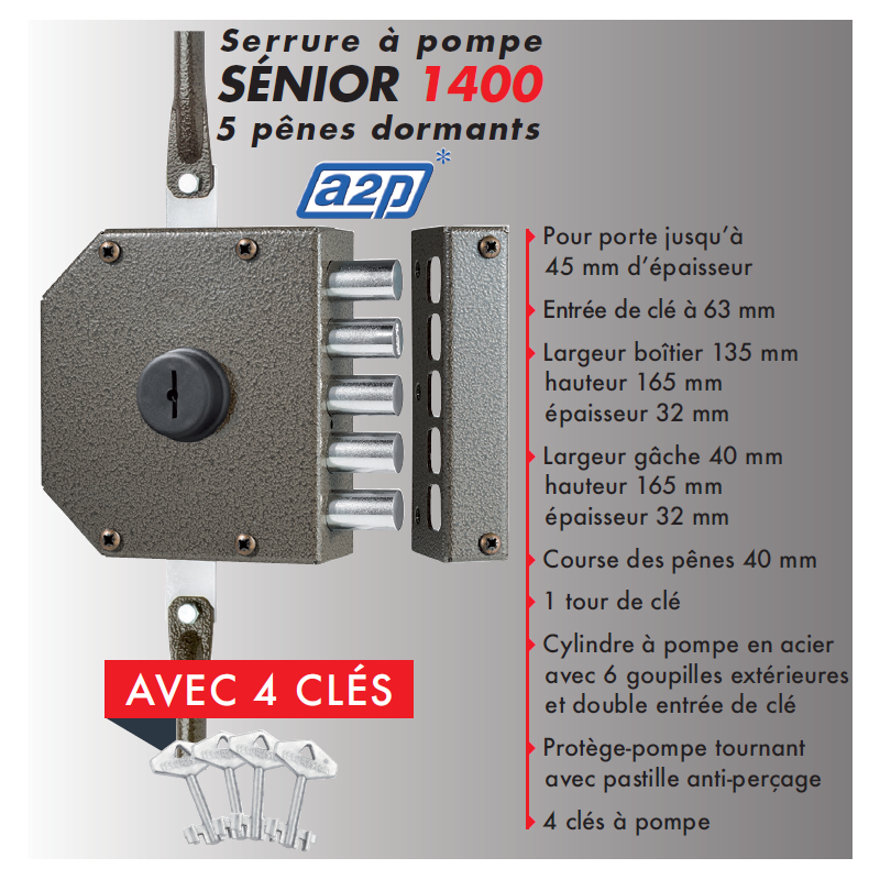... Porte De Cave, Securystar Eco, Serrure Applique 3 Points