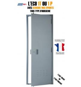 Porte de cave A2P BP1, Securystar Eco, Serrure applique 3 points a2p*