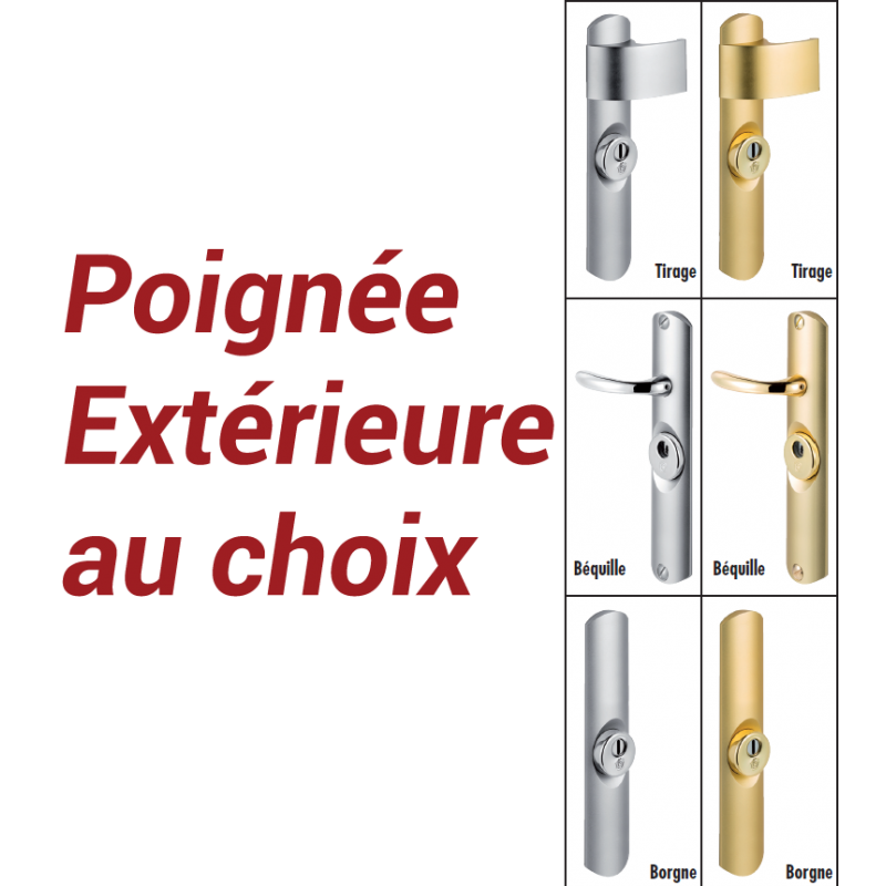 Bloc porte blind securystar l gance a2p bp2 5 pts for Porte 5 points bloquee