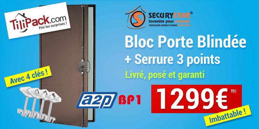 Porte blindée A2P BP1, Securystar Le Privilège