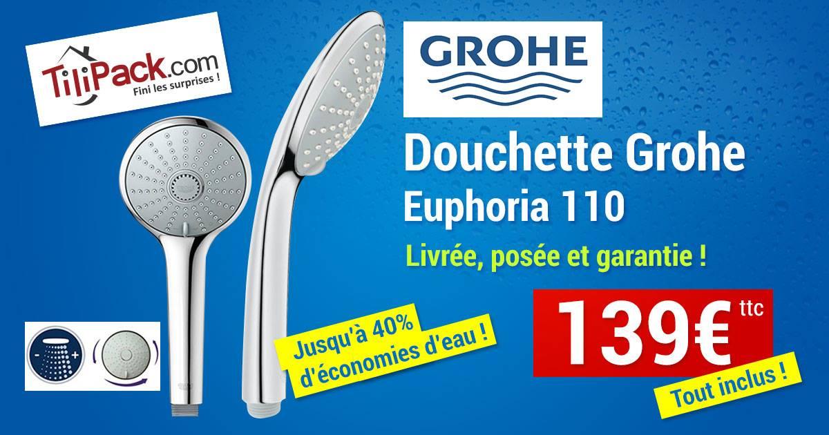 Douchette 2 jets Grohe Euphoria 110