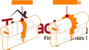 Cylindre de serrure : Panneton et roue dentée